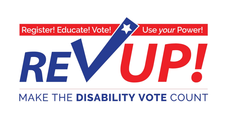 Rev Up Make the Disability Vote count graphic