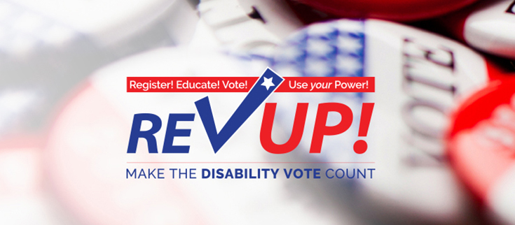 RevUp Make the Disability Vote Count logo