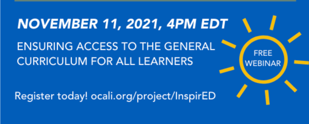 Ensuring Access to the General Education Curriculum for All Learners